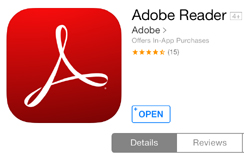 Adobe Reader App for iPad iPhone