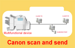Canon scan and send to Windows7 (Windows SMB)
